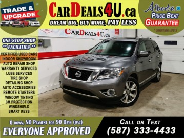 2016 Nissan Pathfinder Platinum 4WD Leather   Heated and Cooled seats   360 Camera