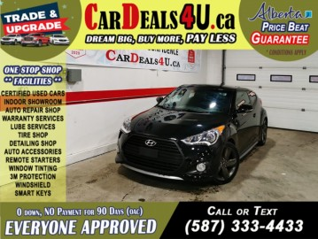 2014 Hyundai Veloster Turbo Heated Seats & Steering   Push to start   Sunroof