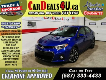 2016 Toyota Corolla S 1.8L Heated seats   Sunroof   Bck Camera   Low Kms